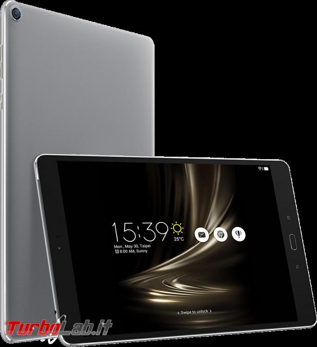 miglior tablet Android 8-10 pollici posso comprare, inverno 2016-2017 - Guida mercato 60-400 € - tablet Asus Zenpad 3S 10