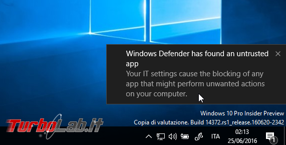 Migliorare sicurezza Windows Defender: come attivare protezione adware, spyware, toolbar ed altri PUP/PUA - windows defender rilevazione pup.pua