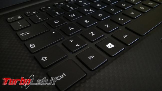migliore notebook alte prestazioni programmare montare video: recensione Dell XPS 15 7590 (modello 2019) - keyboard ctrl fn start