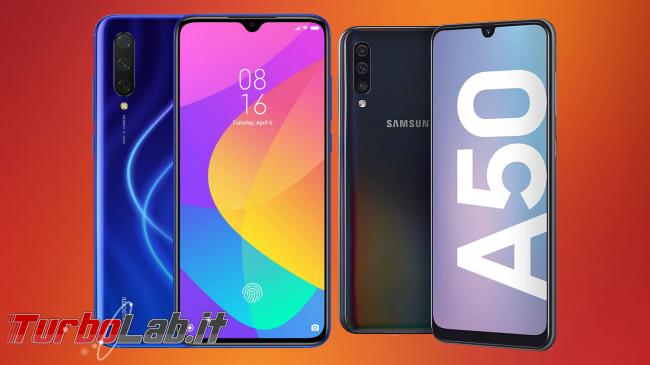 migliore smartphone Android posso comprare, novembre/dicembre 2019: consiglio acquisto entro 250 €, 350 €, 450 € max (video-guida) - Xiaomi Mi 9 lite e Samsung A50