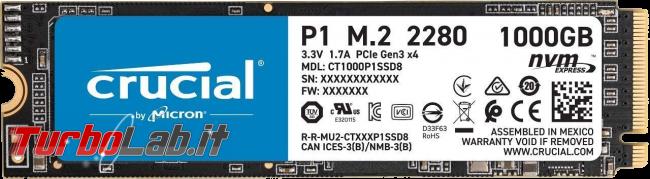 migliore SSD NVMe 2021: guida scelta SSD M.2 - crucial pi1 ssd nvme