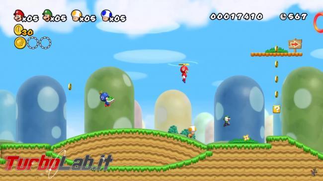 migliori giochi PC Multiplayer Locale schermo condiviso suddiviso - new_super_mario_bros