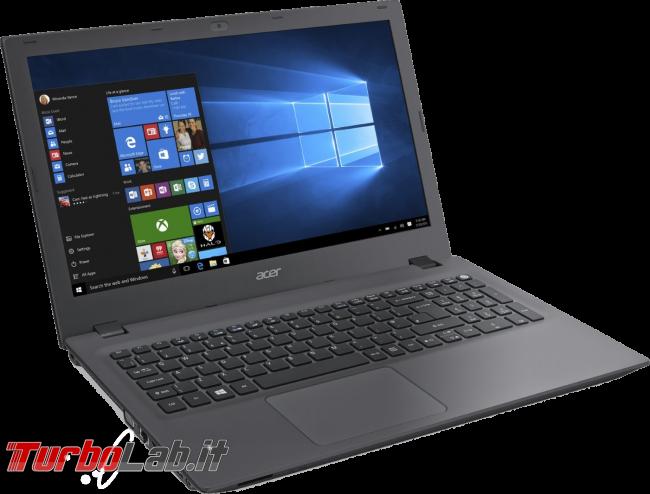 Migliori notebook 2018: guida scelta portatile Windows 10 lavorare studiare (video) - notebook Acer Aspire E5-573-33R5