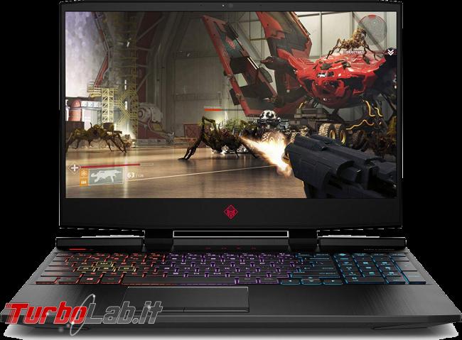 Migliori notebook 2019: guida scelta PC portatile - HP OMEN 15-dc1020ng