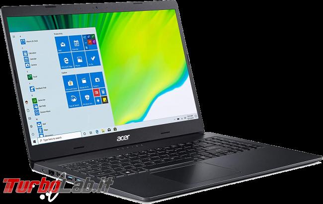 Migliori PC portatili 2021 500/600 € lavoro, studio didattica distanza: guida scelta notebook economico - Acer Aspire 3 A315-23-R97U