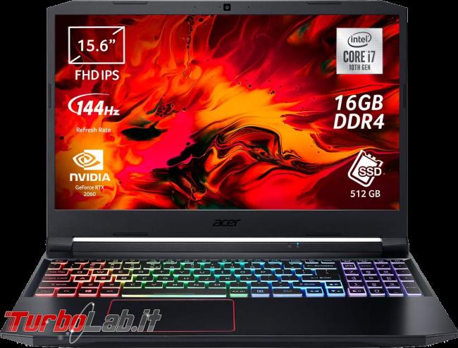 Migliori PC portatili 2021 lavoro studio: video-guida scelta notebook Windows - Acer Nitro 5 (2020)