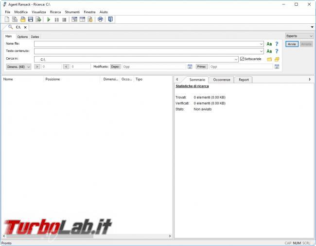 migliori programmi cercare qualsiasi file Windows - 2017-05-03 16_07_07-Agent Ransack
