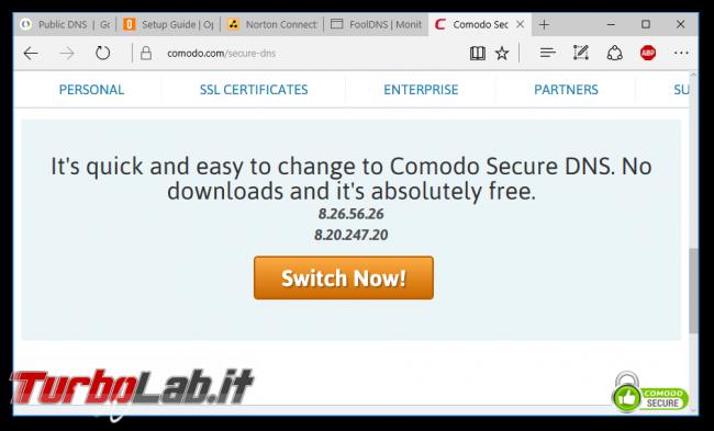 migliori server DNS alternativi navigare velocemente sbloccare siti censurati - comodo secure dns