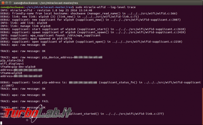 Miracast Ubuntu: guida Miraclecast Linux - miraclecast wifid
