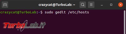 Modificare nome computer Ubuntu 20.04