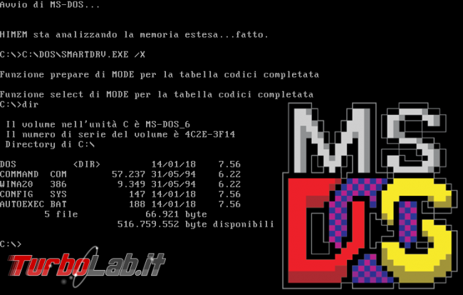 MS-DOS oggi: storia completa Windows