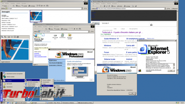 MS-DOS oggi: storia completa Windows - windows 2000 spotlight