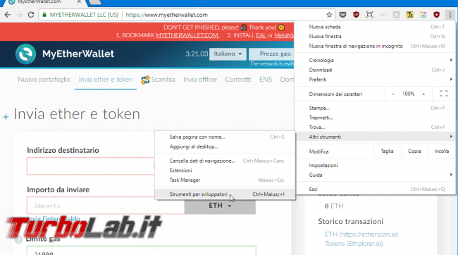 MyEtherWallet, Load all tokens: come caricare/mostrare TUTTI token colpo solo (video)