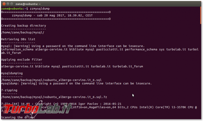 MySQL/mysqldump: creare file distinto/singolo ogni database zzmysqldump (script)