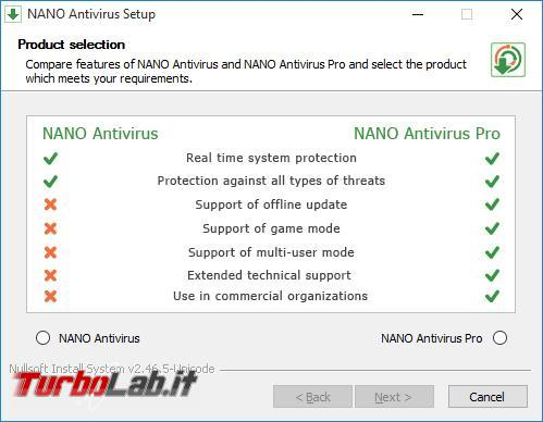 Nano antivirus messo prova TurboLab.it