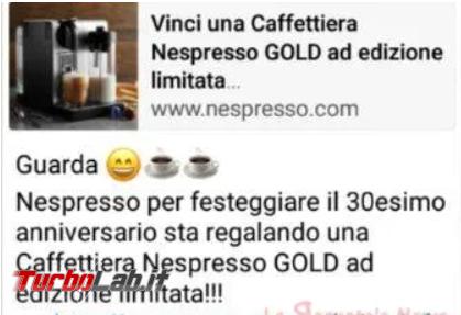 Nespresso regala macchina caffè: è truffa! - FrShot_1588110285