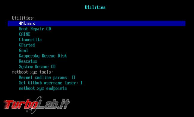 netboot.xyz: avvia installa tutte distro Linux vuoi ( non solo) sola chiavetta USB