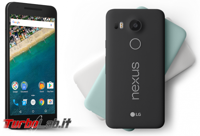 Nexus 5X è super-offerta 199 € Amazon.it!