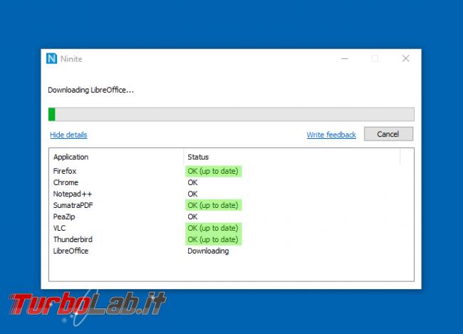 Ninite: installa aggiorna tutti programmi click