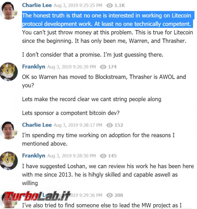 Non comprare Litecoin! Perché ho venduto tutti LTC 2020 (video)