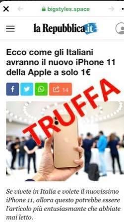 """Nuovo iPhone 11 solo 1€: non è """" Repubblica.it"""" - 118600127_1718306578331016_1781801983556831856_n"""