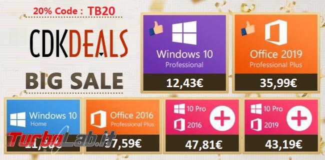 Offerta pazzesca: ottieni Windows 10 Pro autentico nuovi PC soli 12,43 €