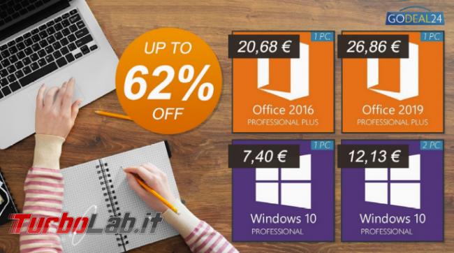 Offerta settimanale Godeal24: prezzi mai così bassi Windows 10 soli 7,4 € - FrShot_1616508753