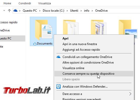 OneDrive Windows 10: guida Segnaposto (Placeholder) File richiesta (Files On-Demand)