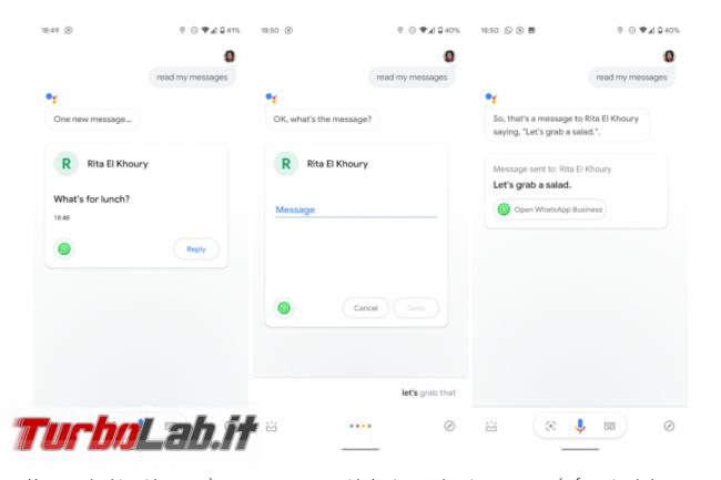 Ora Google Assistant legge messaggi Telegram WhatsApp ( solo inglese) - Annotazione 2019-08-05 153807