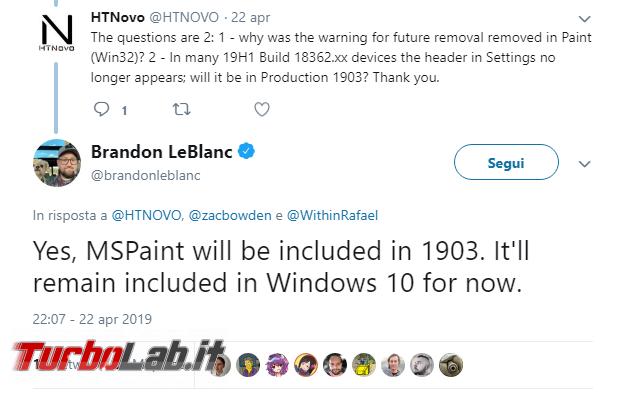 Paint non verrà rimosso Windows 10 (almeno ora) - Annotazione 2019-04-24 080711