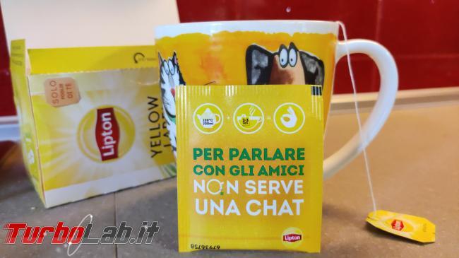 parlare amici non serve chat: curiosa campagna pubblicitaria Tè Lipton - IMG_20210327_085009