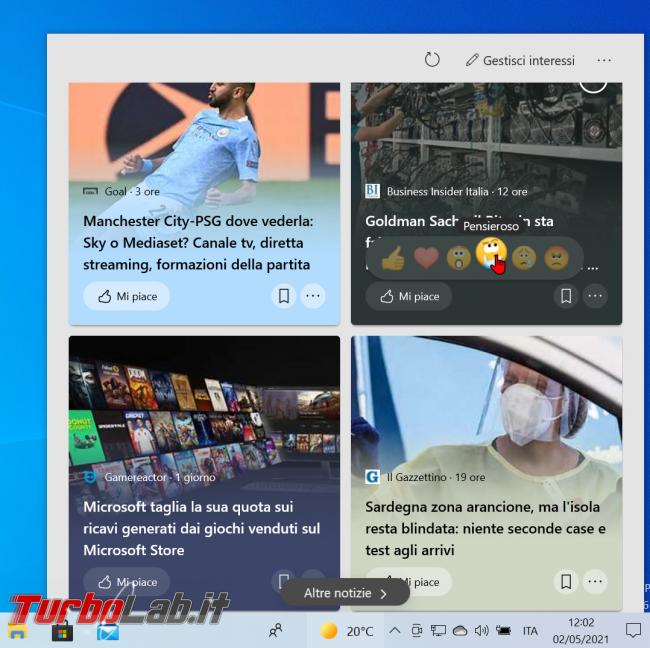 Perché è comparsa icona sole PC Windows 10? Come si nasconde/disattiva Notizie interessi? (video)
