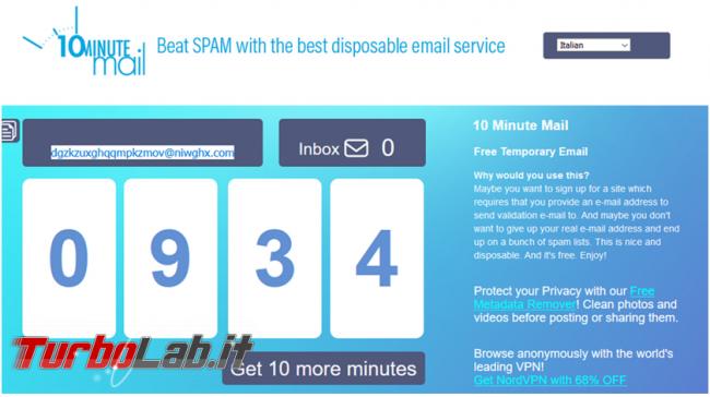 Perché usare email temporanee quale scegliere