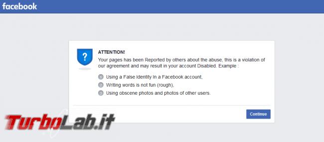 Phishing Facebook: pagina è stata segnalata altri merito bugie frodi - Annotazione-2020-07-07-205927