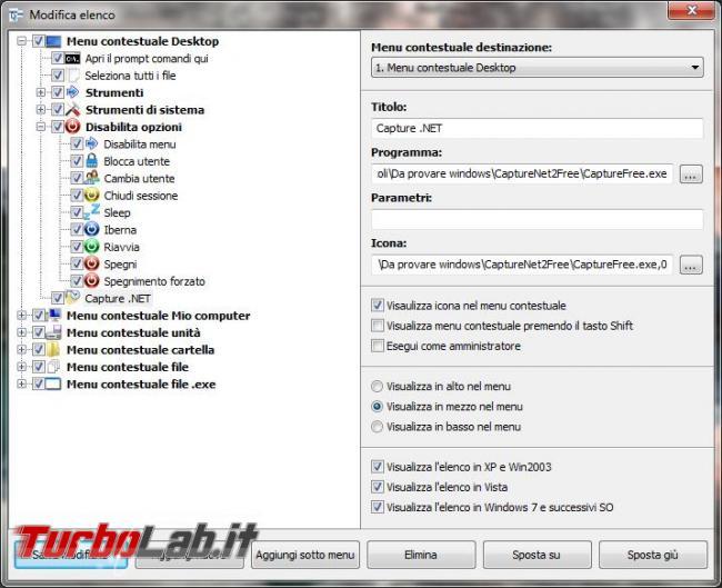 Potenziare menu contestuali Windows