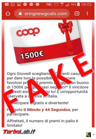 Premio 1500 € qualsiasi negozio: attenzione truffa imita Coop - FrShot_1586523699