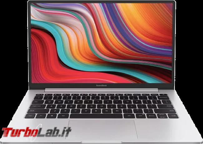 Presto! Questo ottimo notebook CPU Ryzen 5 4500U è offerta 620 € - Xiaomi RedmiBook 13