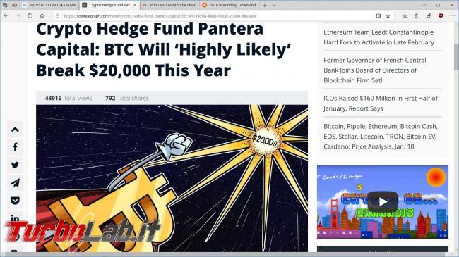 Previsioni 2019 prezzo Bitcoin criptovalute (video)