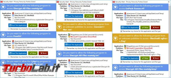 Privacy Fence può proteggere file virus cryptolocker impedirne crittografia