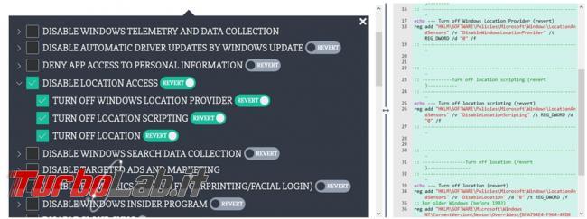 Privacy.sexy, sito raccoglie script gestire migliorare privacy sicurezza Windows 10