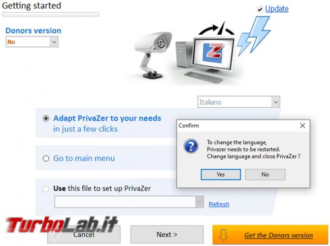 Privazer avrai pulizia completa sistema operativo massima privacy