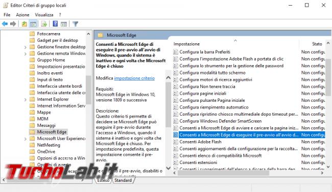 Processi MicrosoftEdge.exe MicrosoftEdgeCP.exe: come impedire, bloccare, disabilitare esecuzione automatica Microsoft Edge boot Windows 10 (AllowPrelaunch, AllowTabPreloading) - Mobile_zShot_1534360981