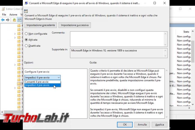 Processi MicrosoftEdge.exe MicrosoftEdgeCP.exe: come impedire, bloccare, disabilitare esecuzione automatica Microsoft Edge boot Windows 10 (AllowPrelaunch, AllowTabPreloading) - Mobile_zShot_1534361073