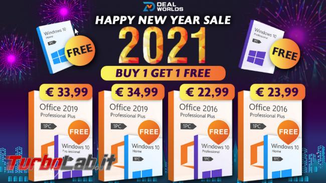 Promozione Software Anno Nuovo: acquista Office ottieni Windows 10 gratuitamente! - FrShot_1610438857