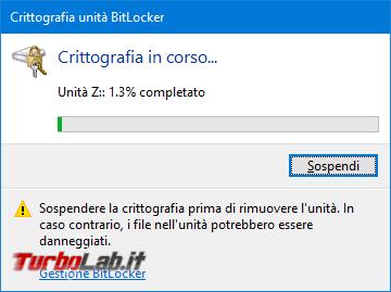 Proteggere password memoria/chiavetta USB, senza installare programmi aggiuntivi: guida BitLocker To Go Windows 10, Windows 8, Windows 7 - Proteggere chiavetta USB con password BitLocker To Go (8)