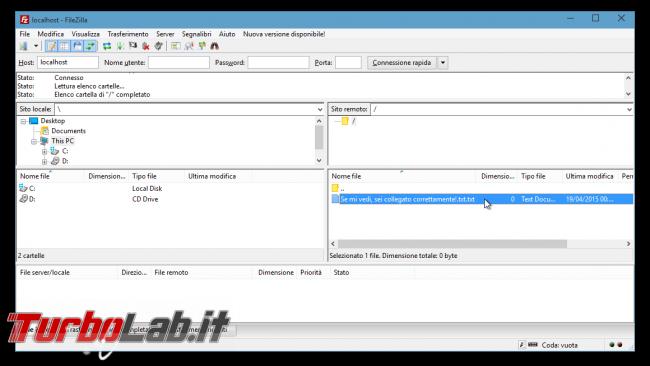Pure-FTPd: abilitare accesso anonimo - FileZilla anonymous