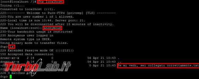 Pure-FTPd: abilitare accesso anonimo - linux ftp anonymous login