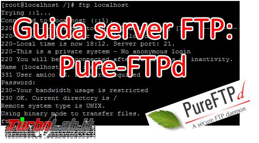Pure-FTPd: abilitare accesso anonimo - pure-ftpd spotlight