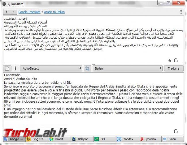 QTranslate vi aiuta tradurre lingue straniere