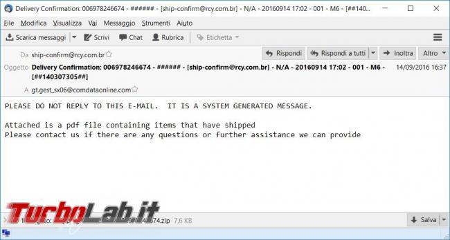 Quali mail quali allegati non bisogna mai aprire perché infetti